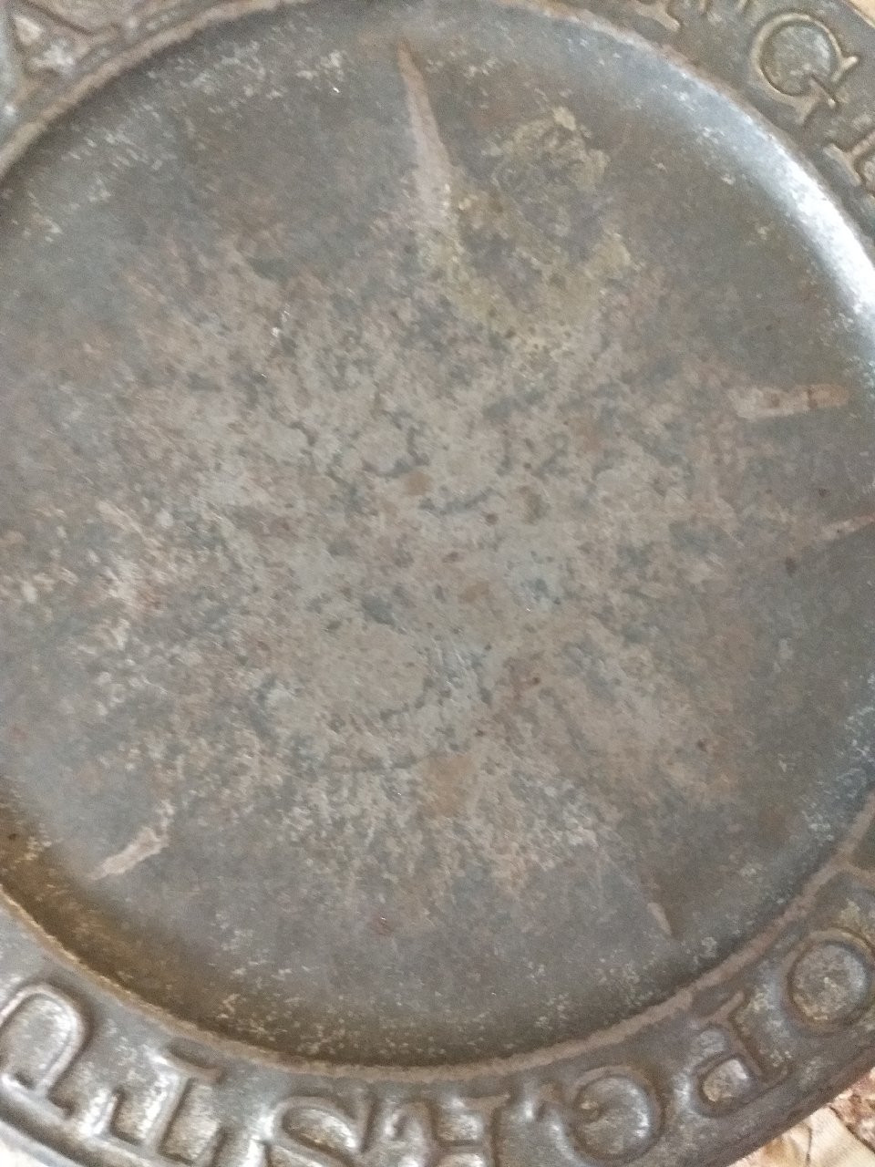 19th Century Antique Tin ABC Letters Baby Feeding Plate Farmhouse Primitive