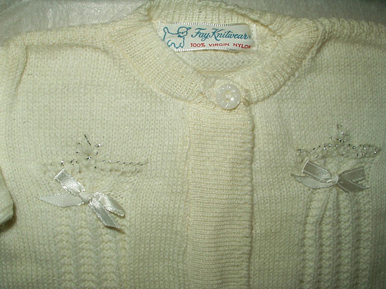 Vintage Boxed Baby Sweater Bootie Set Original Box 1940 1950