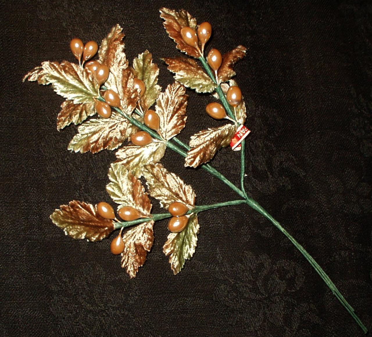 Vintage Japan Old Stock Plush Fabric Millinery Hat Flower Stem