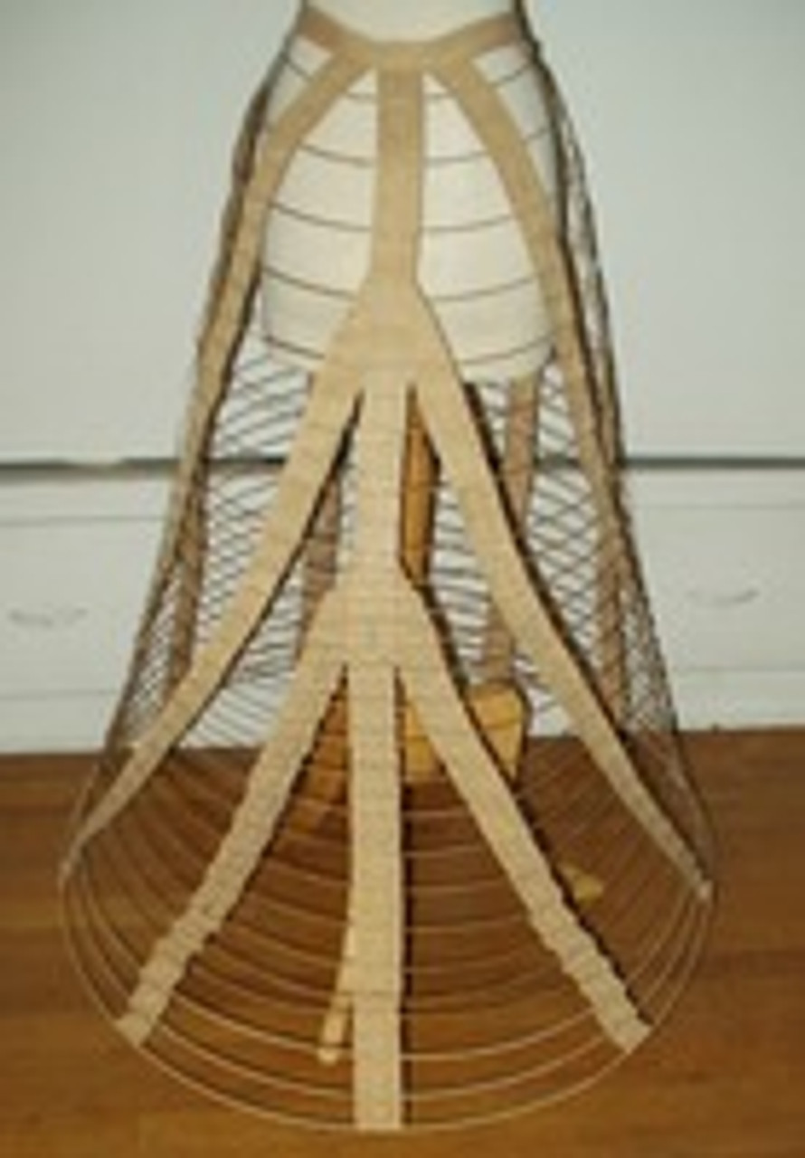 Civil War Era Original Wire Dress Skirt Hoop With Pat'd Dates
