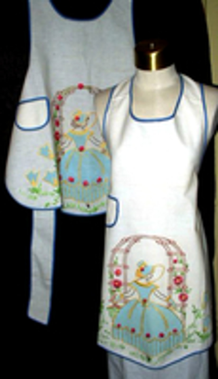 Cut, Sew, Embroidery ~ A Vintage Mother And Daughter Matching Aprons