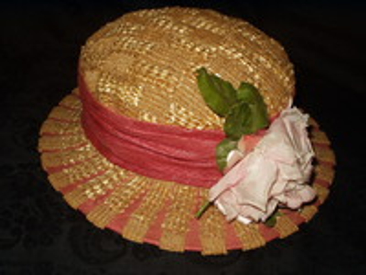 A Millinery's Delight ~ A Classy Early 1900's Palm Beach Straw Hat