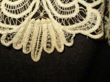 Antique Victorian Hand Branscombe Style Tape Lace Collar