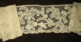 Antique Vintage Victorian Hand Made Branscombe Lace Trim Yardage