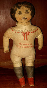 Advertising Early 1900 Miss Flaked Rice Printed Cloth Doll