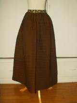 Reversible Victorian 1880 Quilted Petticoat Calico Waistband
