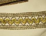 Vintage Edwardian 1920s Gold Metallic Woven Silk Chenille Braid Trim