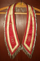 1880 1900 Victorian Fraternal Odd Fellow, Freemason, Templar Regalia Collar Banner Lot of 9