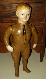 Antique WW1 Ideal Jointed Molded Painted Compo Liberty Doughboy Soldier Doll