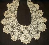 Antique Vintage Schiffli Machine Lace Victorian Edwardian Dress Collar