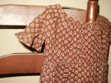 Civil War 1880 Victorian Brown Calico Baby Toddler Child Dress Handstitched