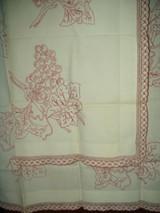 Antique Victorian Turkey Redwork Embroidery Sham Pillow Topper Grape Motif