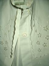 Victorian Edwardian Child's Summer Coat  Fine White Pique Cutwork Embroidery
