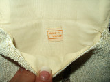 Vintage 1930 Beaded Purse Made In France Label White Seed Beads Clutch Bag