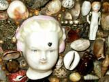 Sailor Seashell Trinket Box Victorian Folk Art Shells Mementos Embellished