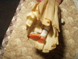 Vintage 1920 Bisque Doll Movable Hands Legs Crepe Paper Dress Japan