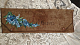 Victorian Edwardian Hand Painted Leather Suede Glove Case