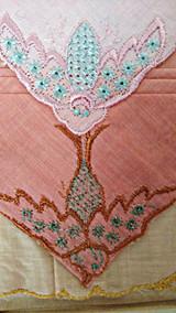 3 Germany Handkerchiefs Vintage 1920 Embroidery Color Hankies Unused