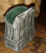 Victorian Edwardian Sewing Pincushion Vintage Metal Satchel Suitcase