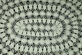 Vintage 1920 Hand Made Irish Crochet Oval Table Dresser Doily