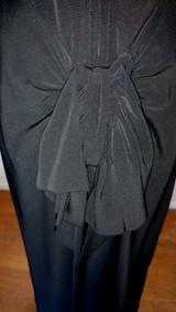Vintage Black Rayon Crepe Dress 1930 Adorable Sassy Bow Back  Rae Mar Jrs