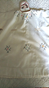 Vintage Child Embroidered Muslin Dress Home Sewn 1920 1930