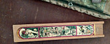 Children Wooden School Pencil Box Christmas Graphics 1930s Vintage