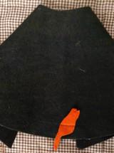 Vintage Halloween Witch Doll Costume 1950s Wool Felt