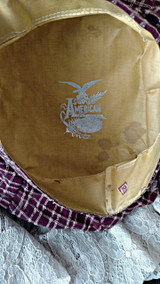 Boy Victorian Fabric Tam Hat 1870s 1890s American Best Make Label