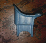 1920s Kilgore Doll House Potty Chair Blue Cast Iron