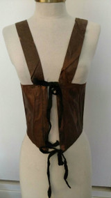Civil War Victorian Glazed Cotton Boned Stays Corset  Girl Cincher