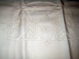 Vintage Edwardian 1920's Italian Cutwork Embroidery Antique Bed Sheet
