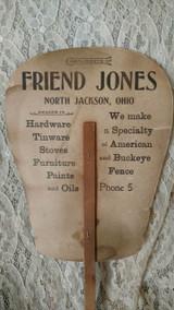 1900s Paper Fan Advertising Woman Tennis Racket  Sport