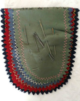 Vintage 1920s Felt Wool Needle Case Blanket Stitch Embroidery