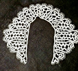 Victorian Edwardian Dress Collar Russian Cantu Bobbin Lace Braid