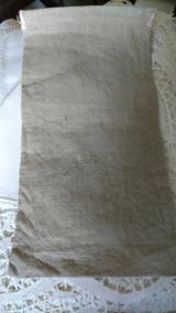 Victorian Edwardian Glove Case Natural Linen Pink Silk Embroidery