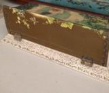 Edwardian Celluloid Dresser Box Gutta Percha Mirror Set Woman Boudior