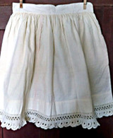 Girl Victorian Wool Petticoat Crochet Lace Scallop Hem Trim
