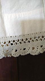 Girl Victorian Wool Petticoat Crochet Lace Scallop Hem Trim