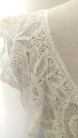 Renaissance Battenburg Collar Victorian Tape Lace Handmade 1900