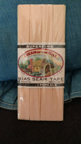 Vintage Sewing Bias Seam Tape Advertising Label Cream Of The Mill