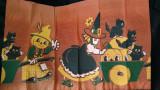 1950 Vintage Halloween Crepe Paper Dennison Pumpkin Cats 9 Feet