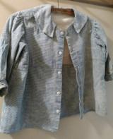 Early Blue Homespun Child Shirt Well Worn Farmhouse Primitive 19th Century