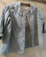 Early Blue Homespun Child Shirt Well Worn Farmhouse Primitive 19th Century