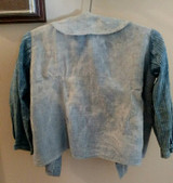 Child Homespun Blue Calico Shirt Primitive Worn 19th Century