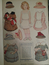 1900s  Saalfield Paper Doll Paint Cutout  Book Frances Brundage Unused