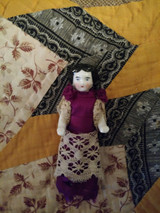 German Victorian Frozen Charlotte China Doll Arms Extended