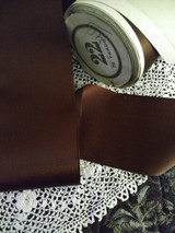 Antique Brown Silk Rayon Ribbon  Original Spool 1900 1920 Millinery