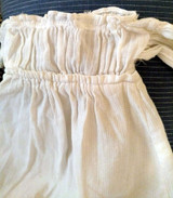 Antique Baby Doll Dress Victorian White Cotton China Shoulder Plate