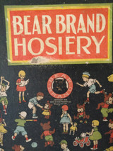 Vintage Bear Brand Hosiery Stocking Box Only 1930s  Children Animal Figures